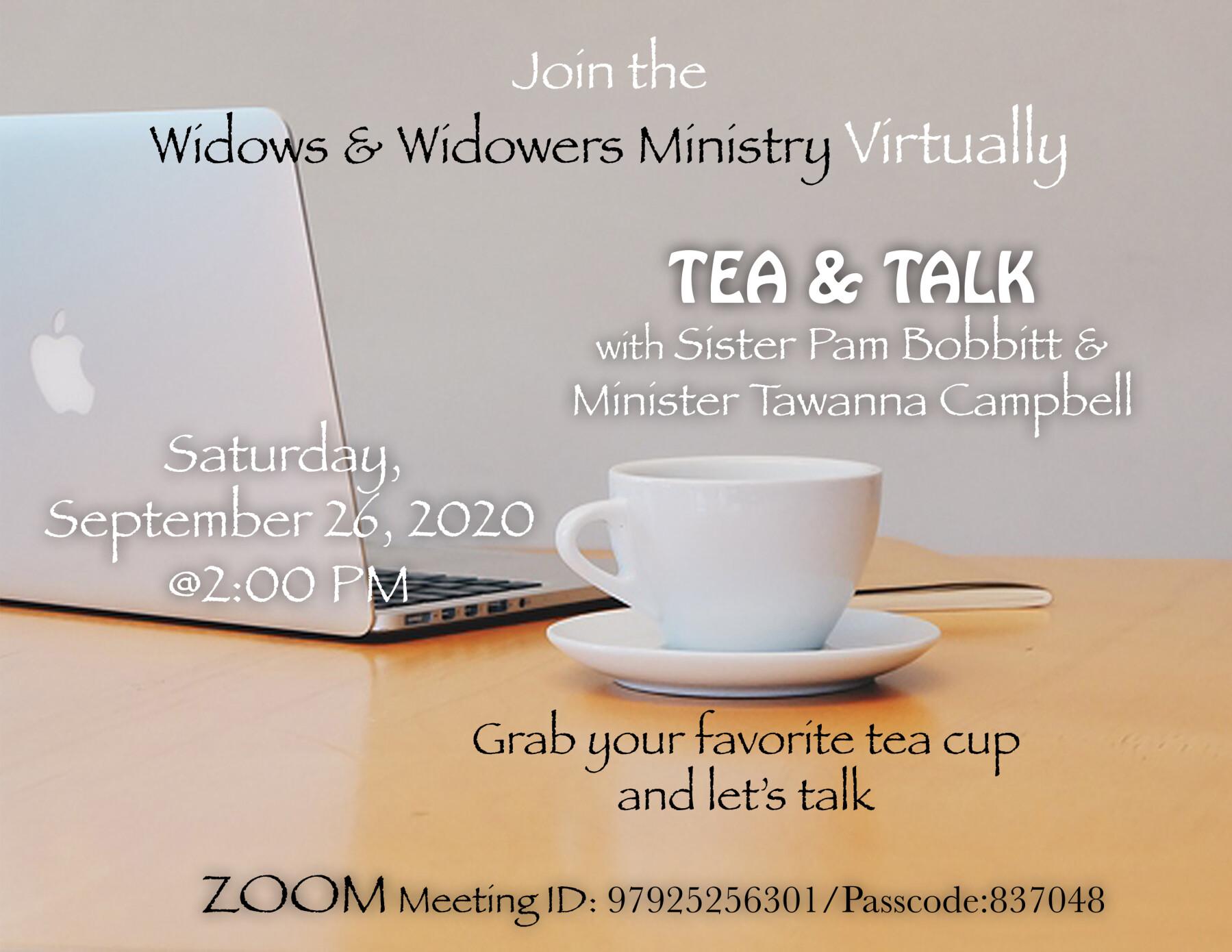 Widows & Widowers Virtual Tea & Talk