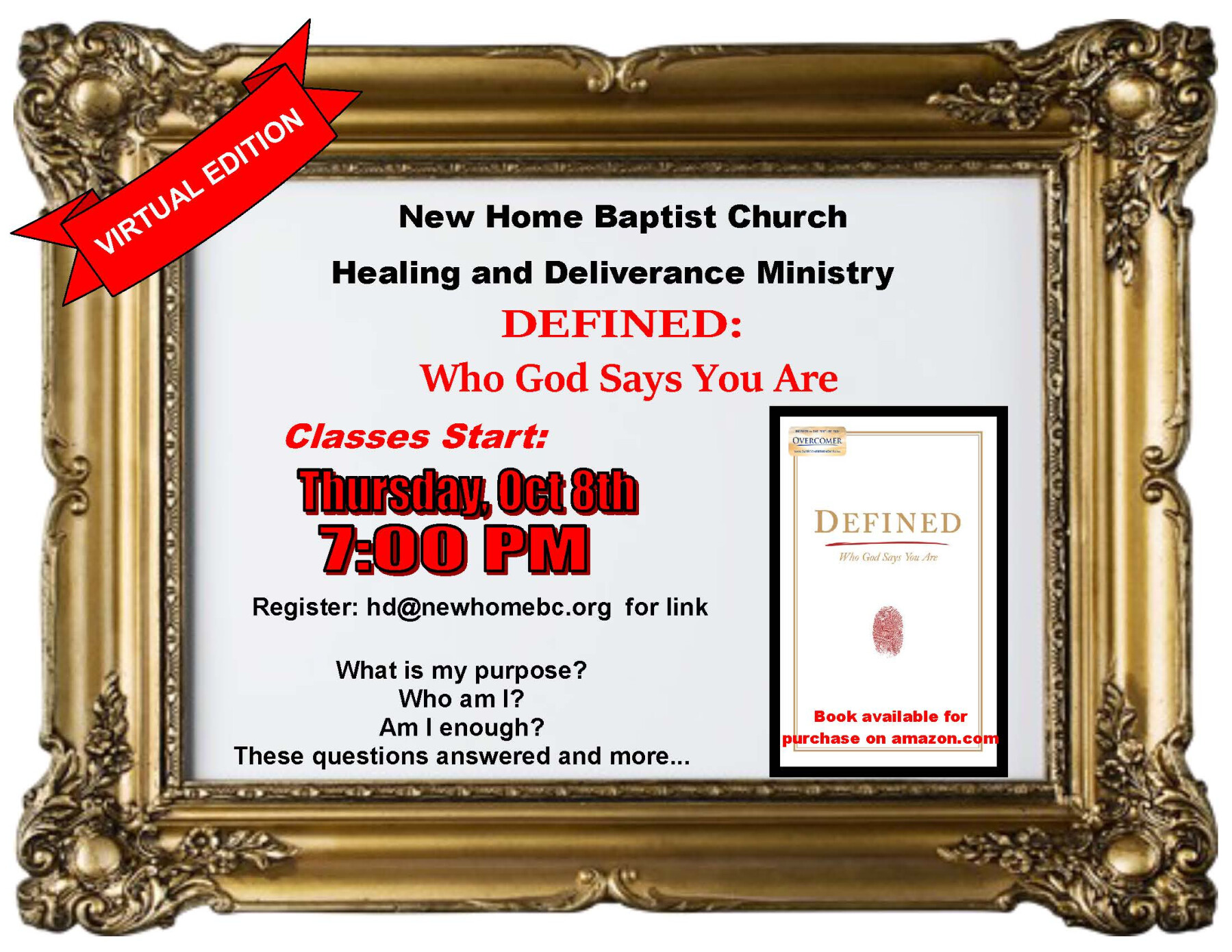 "Healing & Deliverance ""Defined"" Class"