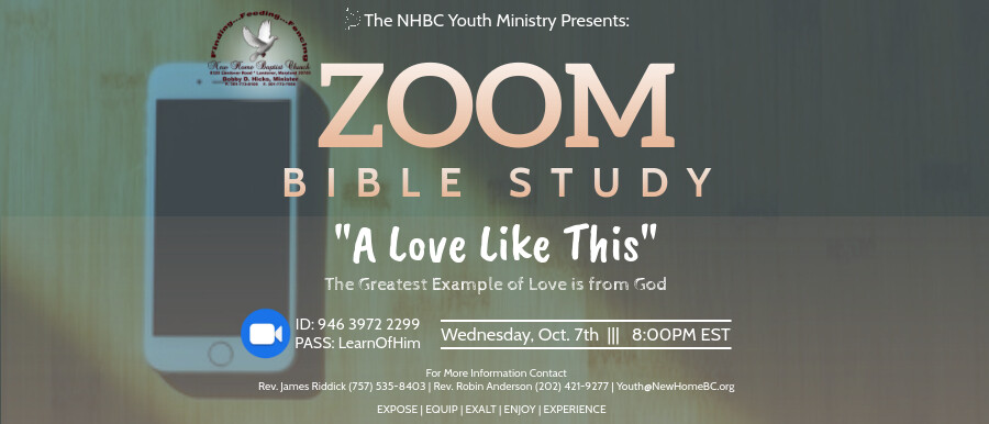 Youth Ministry - Zoom Bible Study