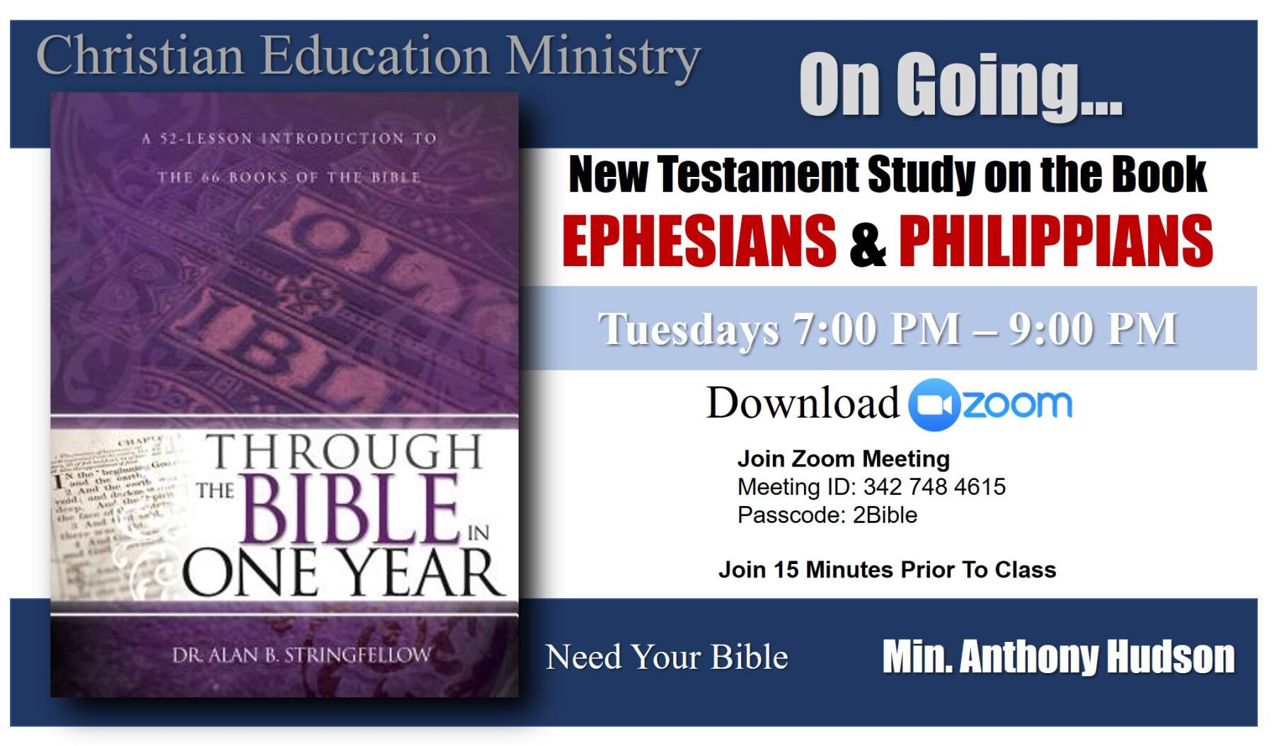 "Christian Education ""Through The Bible"" Class"