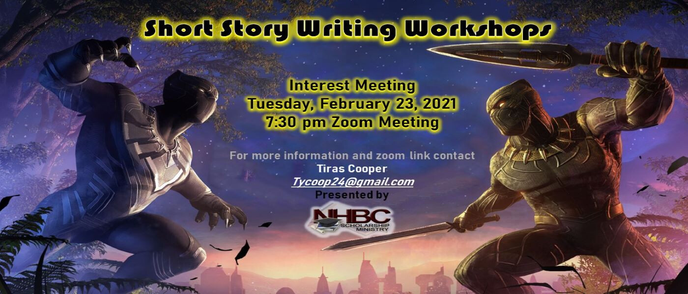 "Scholarship Ministry ""Short Story Writing Workshops"" Interest Meeting"