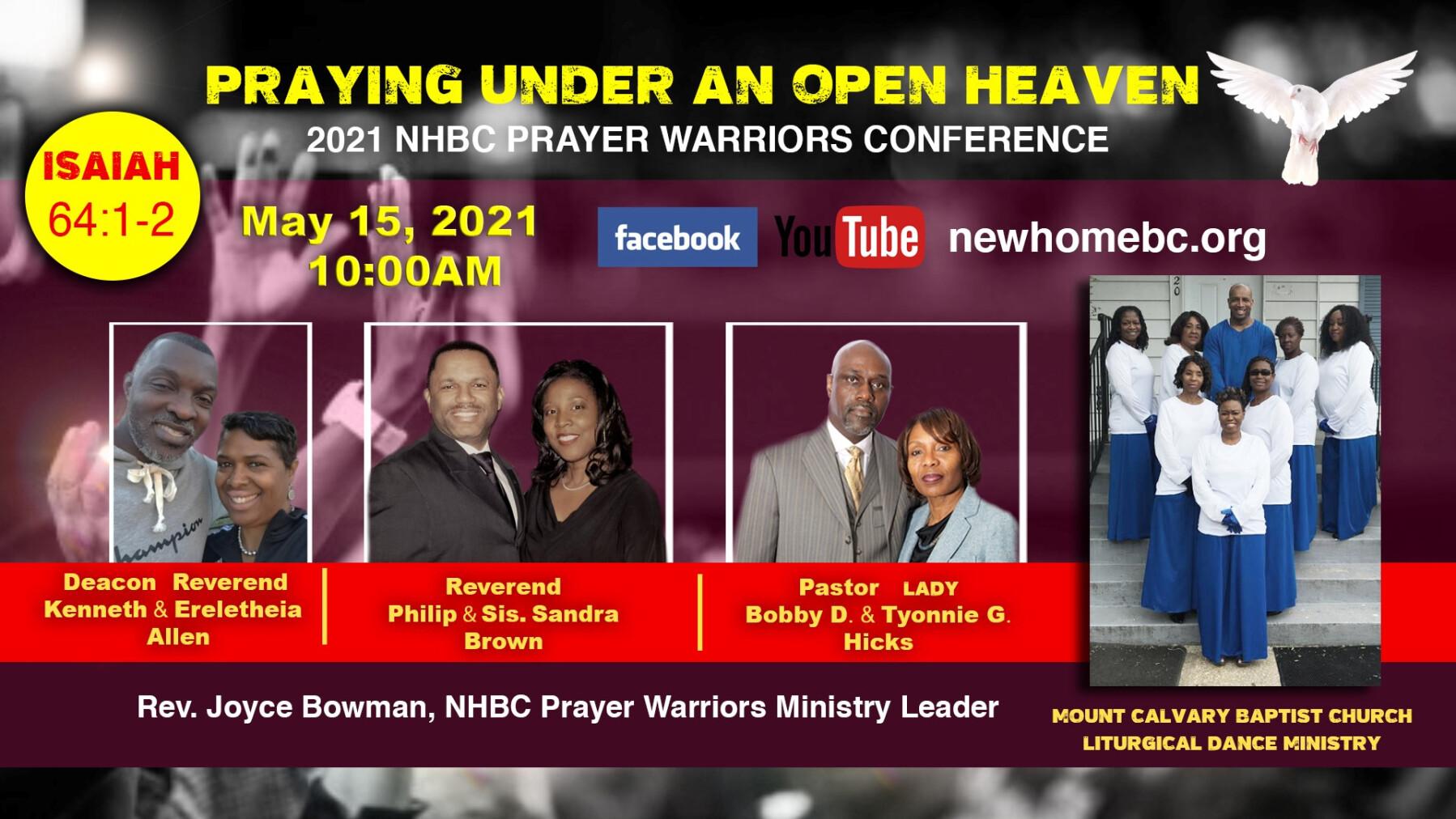 "2021 Prayer Conference ""Praying Under An Open Heaven"" Isaiah 62:1-2"