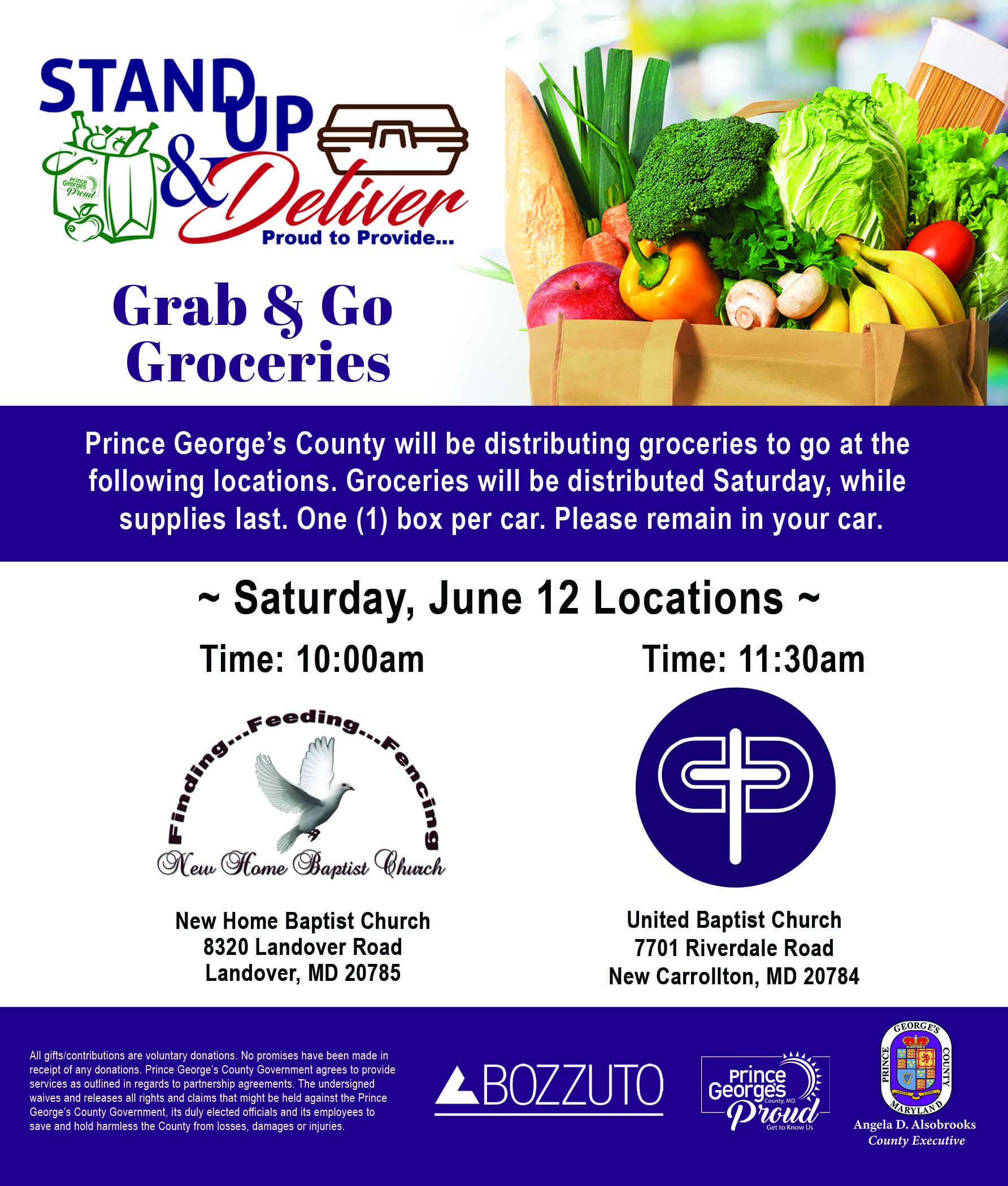 Free Grocery Giveaway (10AM Until Gone)