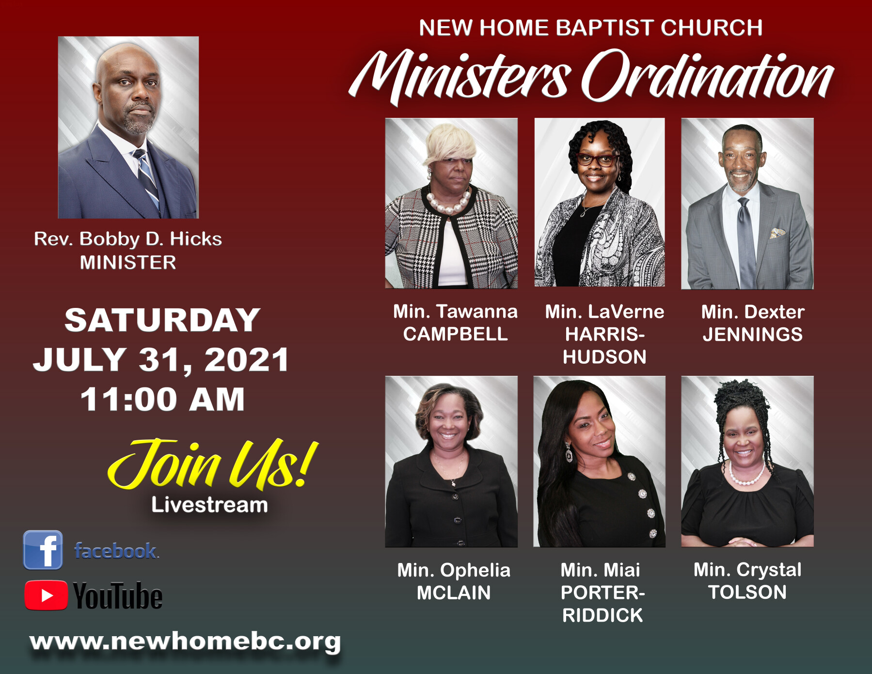 Ministers Ordination Service (11AM)